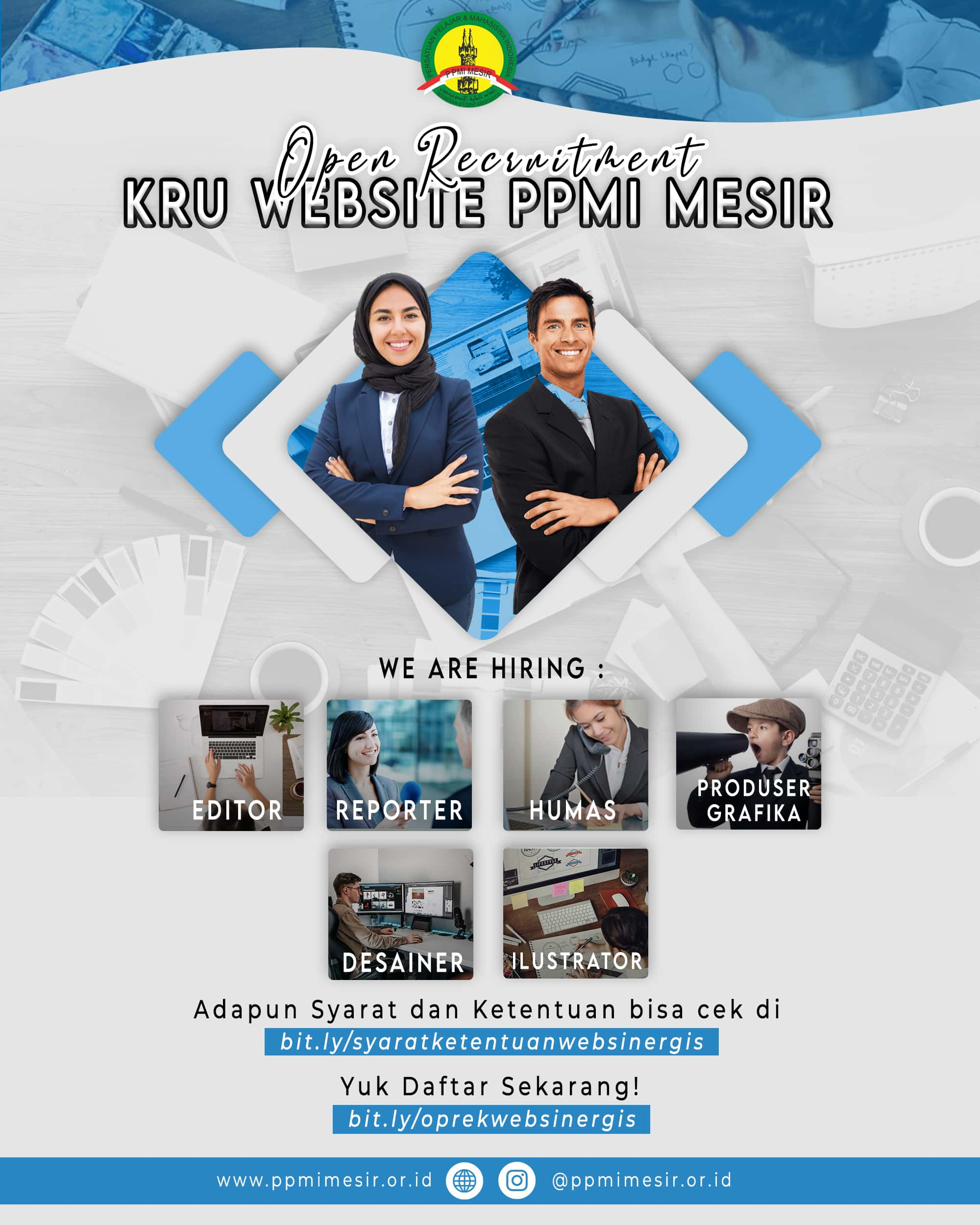 We Are Hiring!, Mari Bergabung Bersama Kami di Kru Website PPMI Mesir