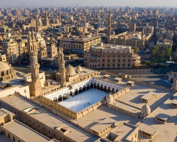 al azhar view from drone