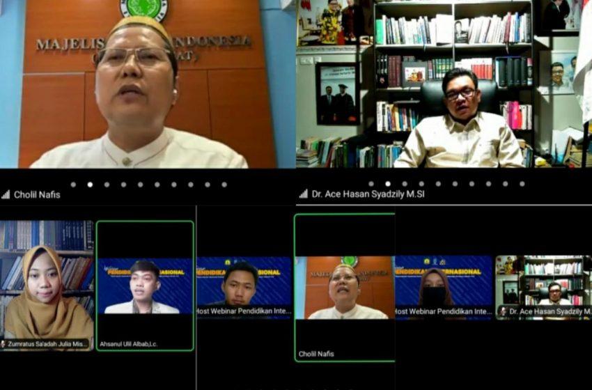 Webinar OPSI: Prof. Chalil Nafis dan Dr. H. Ace Tekankan Dialog Ilmiah untuk Latih Nalar Kritis